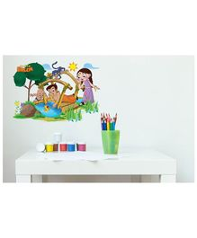 Asian Paints Peel & Stick Chhota Bheem Themed Wall Sticker Extra Large - Multicolour