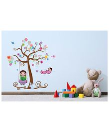 Asian Paints Peel & Stick Chutki Themed Wall Sticker Extra Large - Multicolour