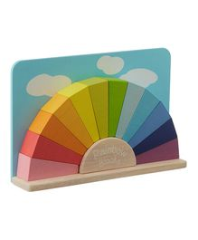 Brainsmith Wooden Rainbow Building Blocks - Multi Colour