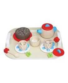 Brainsmith Wooden Tea Party Set - Red