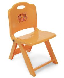 Foldable Baby Chair With In Built Handle - Orange