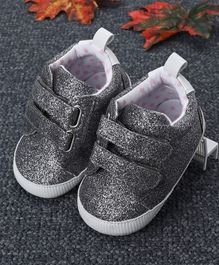Fox Baby Glittery Booties - Silver
