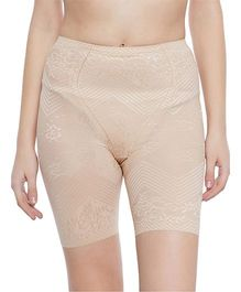 Clovia 4-In-1 Tummy Back Thigh & Hips Shaper - Beige