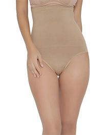 Clovia High Waist Tummy Tucker - Beige