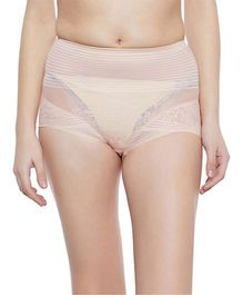Clovia Tummy Tucking High Waist Brief - Beige