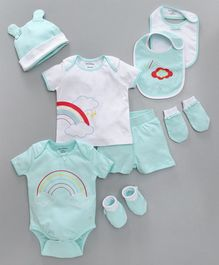 My Milestones Infant Essentials Gift Set Aqua - 8 Pieces