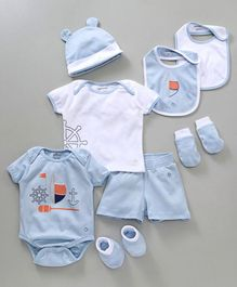 My Milestones Infant Essentials Gift Set Blue - 8 Pieces