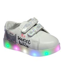 Passion Petals Kitty LED Casual Shoes - White