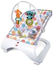 Baby Bouncer With Hanging Toys Circle Print - White