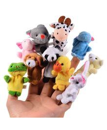 Party Propz Plush Animal Finger Puppets Multicolour - 10 pieces
