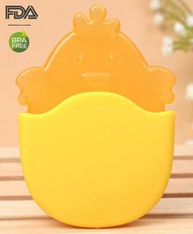 Babyhug Chicken Water Filled Teether With Holder - Orange