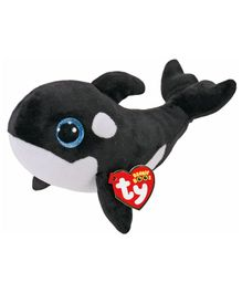 Jungly World Whale Soft Toy Black & White - Height 15 cm