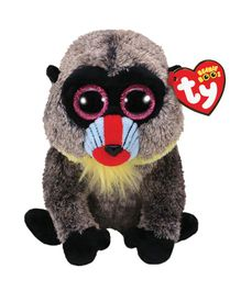 Jungly World Baboon Soft Toy Grey - Height 15 cm