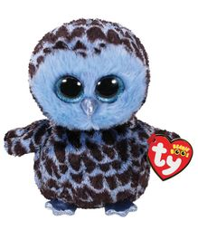 Jungly World Owl Soft Toy Blue & Brown - Height 15 cm