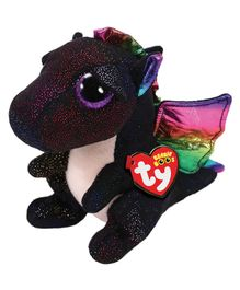 Jungly World Dragon Soft Toy Black - Height 23 cm