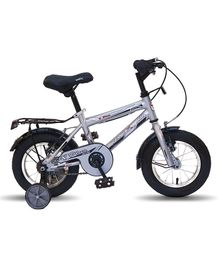 Vaux Plus MTB Bicycle With Training Wheels Silver - 12 inches