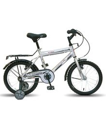 Vaux Plus MTB Bicycle With Training Wheels Silver - 16 inches