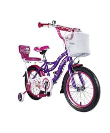 35080bf4243 Vaux Princess Bicycle With Training Wheels Purple - 16 inches