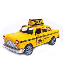 Webby Die-Cast Mini Pull Back Taxi - Yellow