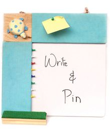 IVEI Pin Board & Whiteboard Combo - Blue