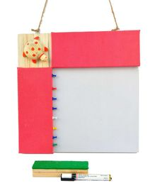IVEI Pin Board & Whiteboard Combo - Pink