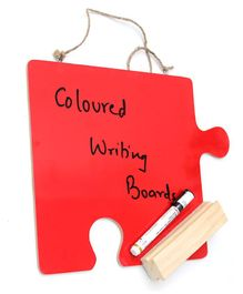 IVEI Puzzle Shaped Coloured Writing Board - Red