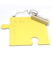 IVEI Puzzle Shaped Coloured Writing Board - Yellow