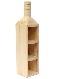 Ivei Wooden Bottle Shape Holder - Beige