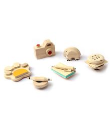 Ivei Wooden Miniature Fridge Magnets - Set of 6