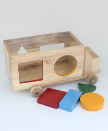 Ivei Wooden Truck Shape Sorter - Multicolour