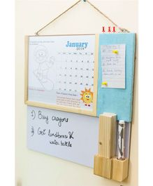 Ivei Activity Calendar With Whiteboard & Pin Board - Blue