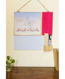 Ivei Activity Calendar With Whiteboard & Pin Board - Pink
