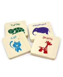 Ivei Educational Animals Magnets - Pack of 4
