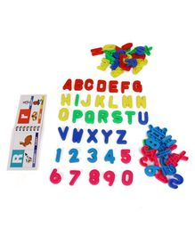 RK's Alphabet & Numbers Pack of 78 Pieces - Multicolour