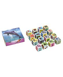 Toyenjoy Dolphin Blocks Fixo Puzzle - 16 Pieces