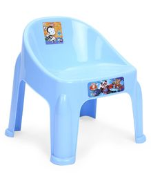 Ratnas Plastic Chair Bear Print - Light Blue