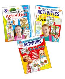 Set of 3 Brain Booster Activity Books - English