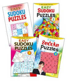 Set of 4 Sudoku Puzzles Books Easy - English