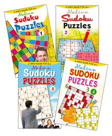 Set of 4 Sudoku Puzzles Books Medium - English