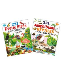 Exotic Birds & Amphibians And Reptiles Encyclopedia Set of 2 - English