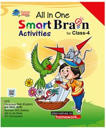 All In One Smart Brain Activities Book for Class 4 - English