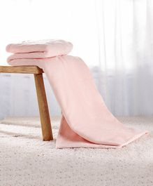 Babyhug Coral All Seasons Blanket - Peach