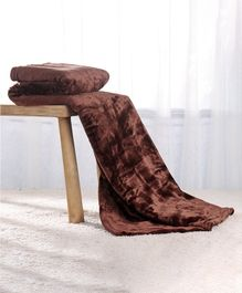 Babyhug Coral All Seasons Blanket - Brown