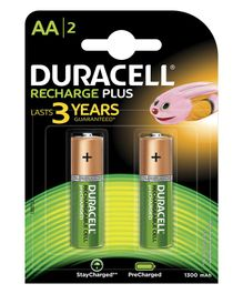 Duracell Plus AA Rechargeable Batteries - Pack Of 2