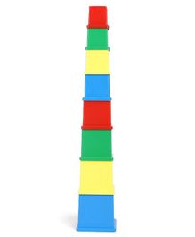 Anindita Toys Stacking Cubes Multicolour - 8 Pieces