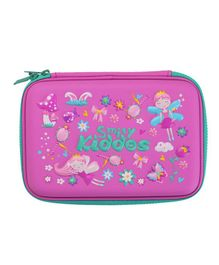 Smilykiddos Single Compartment Pencil Box - Pink & Blue