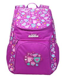 Smilykiddos Backpack Purple - Height 18 inches