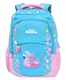 Smilykiddos Dreamland Backpack With Padded Adjustable Straps Star Print Blue - Height 16 inches