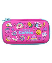 Smilykiddos Hardtop Multi Print Pencil Box - Pink