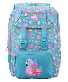Smilykiddos Foldover Backpack Blue - Height 6.9 inches
